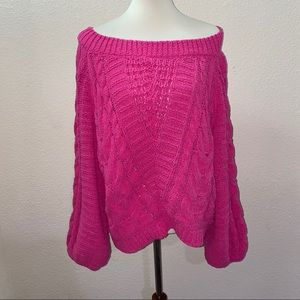 NWT Express Hot Pink Sweater Size Large